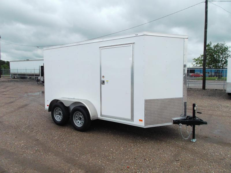 "2019 Covered Wagon Trailers 6x12 Tandem Axle Cargo Trailer / Enclosed Trailer / Barn Doors / 6'6"" Interior / RV Side Door / LEDs"