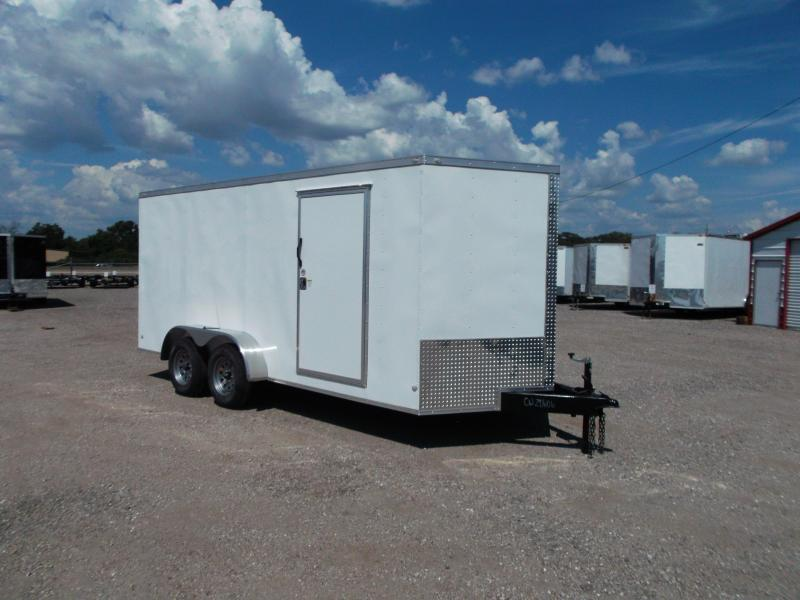 2018 Covered Wagon Trailers 7x16 Tandem Axle Cargo Trailer / Enclosed Trailer w/ Ramp / RV Side Door / LEDs