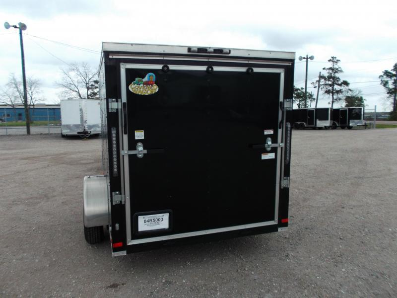 WOW - 2019 Covered Wagon Trailers 6x10 Cargo Trailer / Motorcycle Trailer / Ramp / Side Door w/ Bar Lock / LEDs