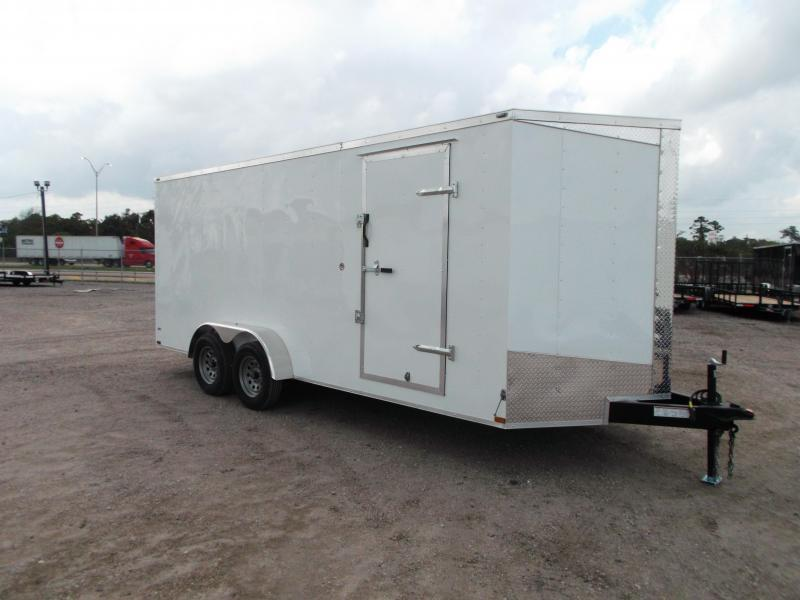"2018 Lark 7x18 Tandem Axle Cargo Trailer / Enclosed Trailer / Ramp / 6'6"" Interior / LEDs"