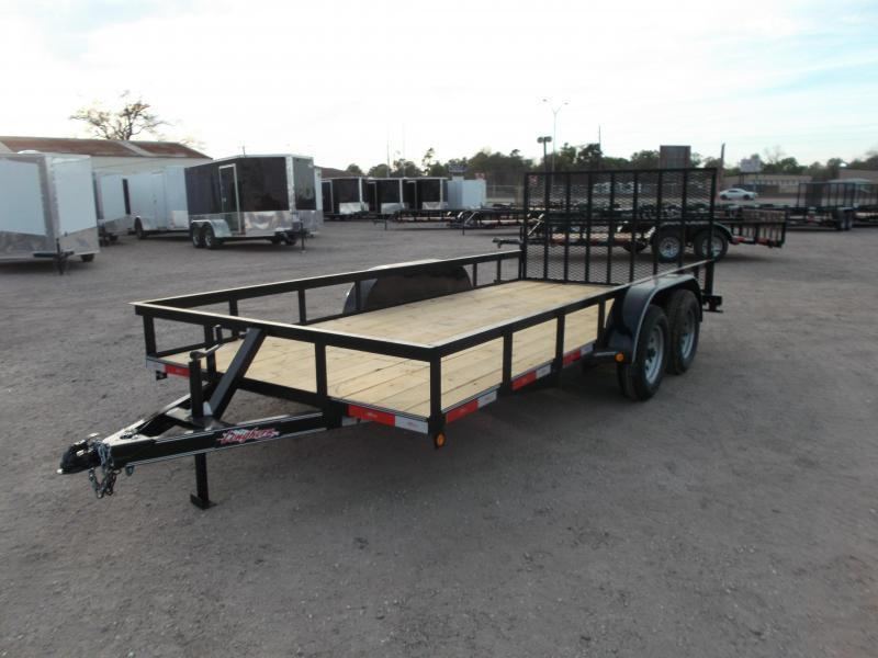 2019 Longhorn Trailers 16ft Utility Trailer w/ 4ft Heavy Duty Ramp