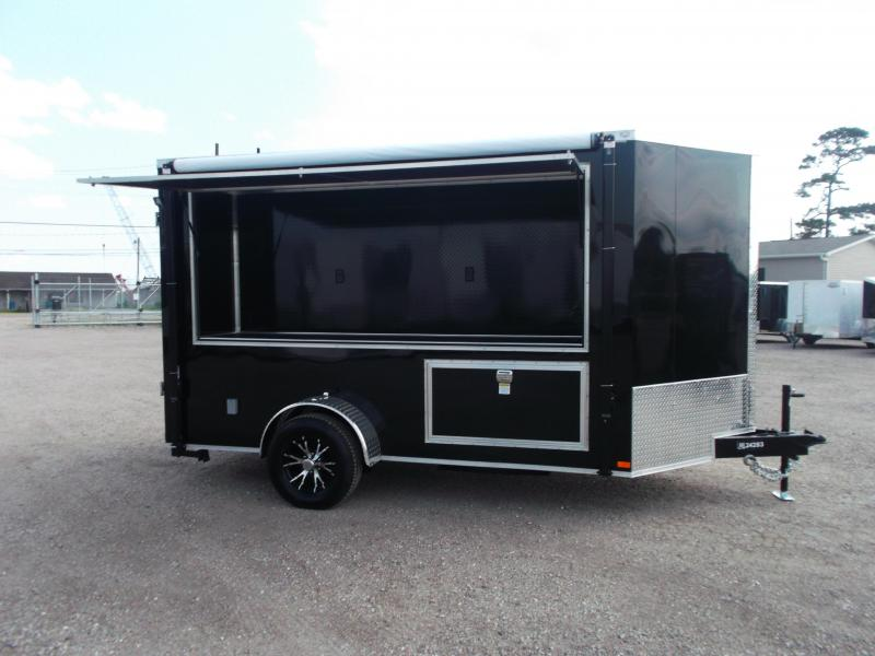 2017 Covered Wagon Trailers 6x12 Tailgate Trailer w/ Restroom