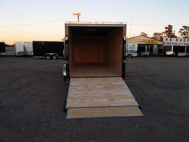 2019 Covered Wagon Trailers 7x16 Tandem Axle Cargo Trailer / Enclosed Trailer / Ramp / RV Side Door / LEDs