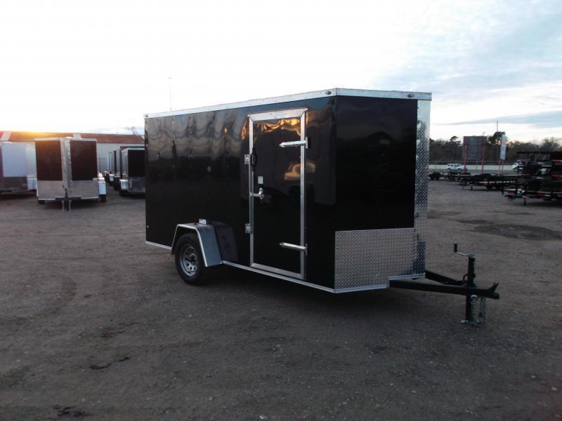 "2019 Texas Select 6x12 Single Axle Cargo Trailer / Enclosed Trailer / 6'3"" Interior / Ramp / Side Door / LEDs"