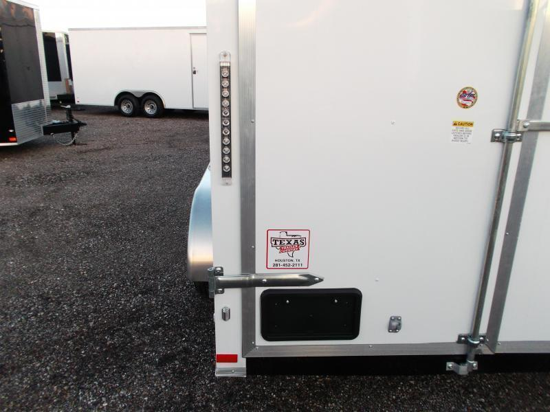 SPECIAL - BLACK - 2019 Covered Wagon Trailers 6x12 Tandem Axle Cargo Trailer / Enclosed Trailer / Barn Doors / RV Side Door / LEDs