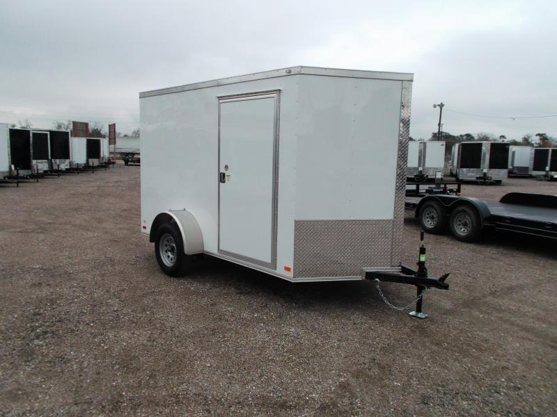 2018 Covered Wagon Trailers 6x10 Single Axle Cargo Trailer / Enclosed Trailer / Ramp / RV Side Door / LEDs