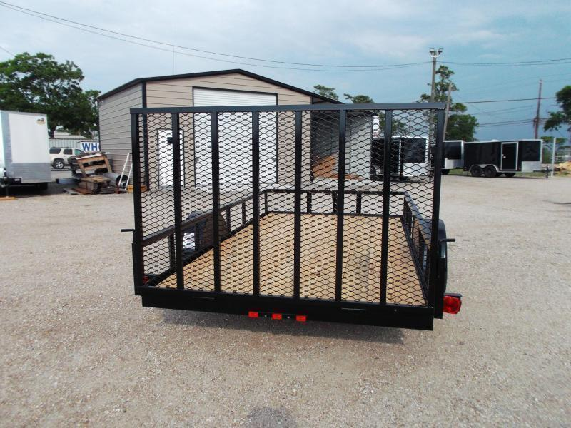 2018 Longhorn Trailers 77x12 Single Axle Utility Trailer w/ Heavy Duty 4ft Ramp