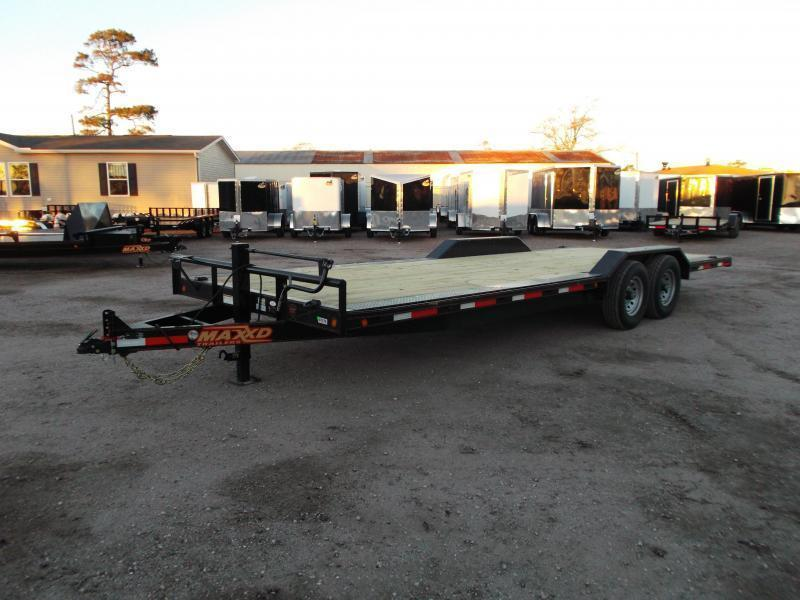 2019 Maxxd 102x24 14K Car Hauler / Flatbed Trailer / Equipment Hauler / Powder Coated / Drive Over Fenders / 7K Axles