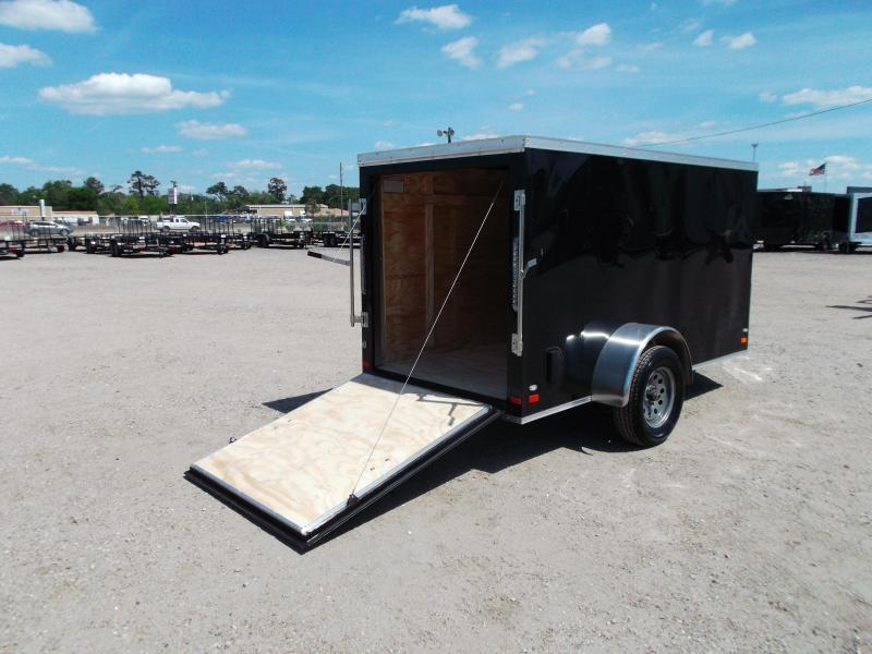 2018 Covered Wagon Trailers 5x10 Single Axle Cargo / Enclosed Trailer w/ Ramp