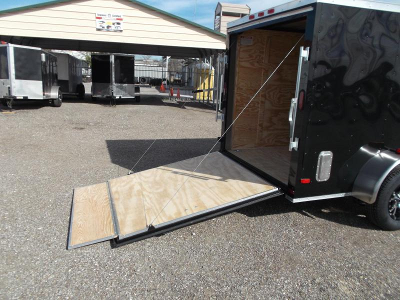 2017 Covered Wagon Trailers 6x10 Semi Low Hauler Motorcycle Trailer