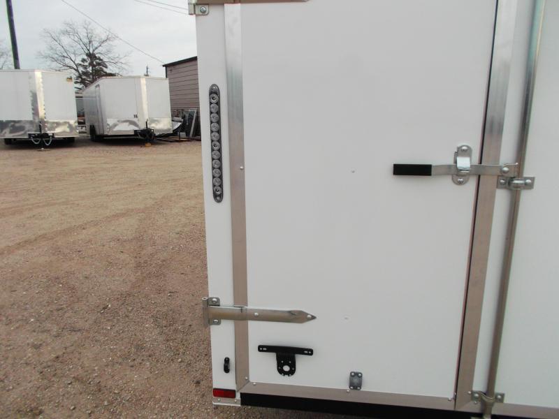 Lark 6x12 single axle cargo trailer enclosed trailer w barn doors