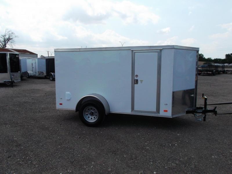 2019 Covered Wagon 5x10 Single Axle Cargo Trailer / Enclosed Trailer / Double Rear Doors / RV Side Door / LEDs