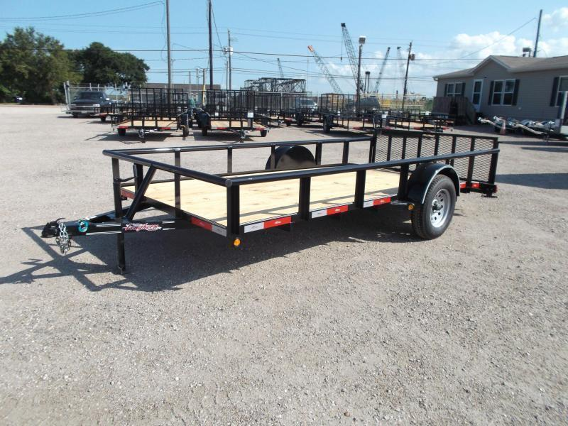2018 Longhorn Trailers 77x14 Single Axle Utility Trailer / Pipetop / 2ft Dovetail / 2ft Ramp Gate