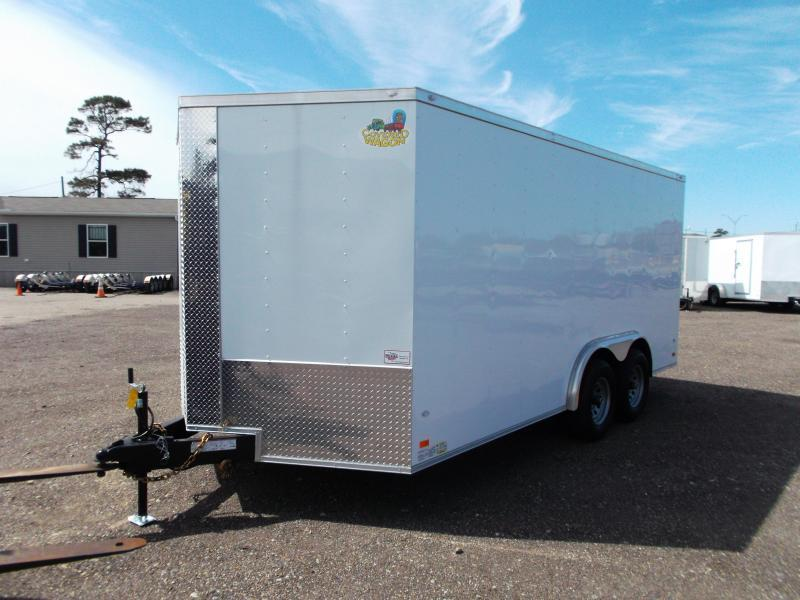 2018 Covered Wagon Trailers 8x16 Tandem Axle Cargo / Enclosed Trailer / Ramp / RV Side Door / LEDs