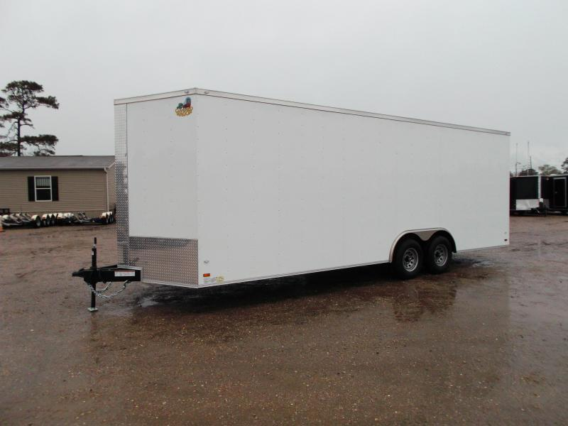 "SPECIAL - 2019 Covered Wagon Cargo 8.5x24 Tandem Axle Cargo Trailer / Car Hauler / 7'6"" Interior / 7K Axles / 60"" Tongue / LEDs"