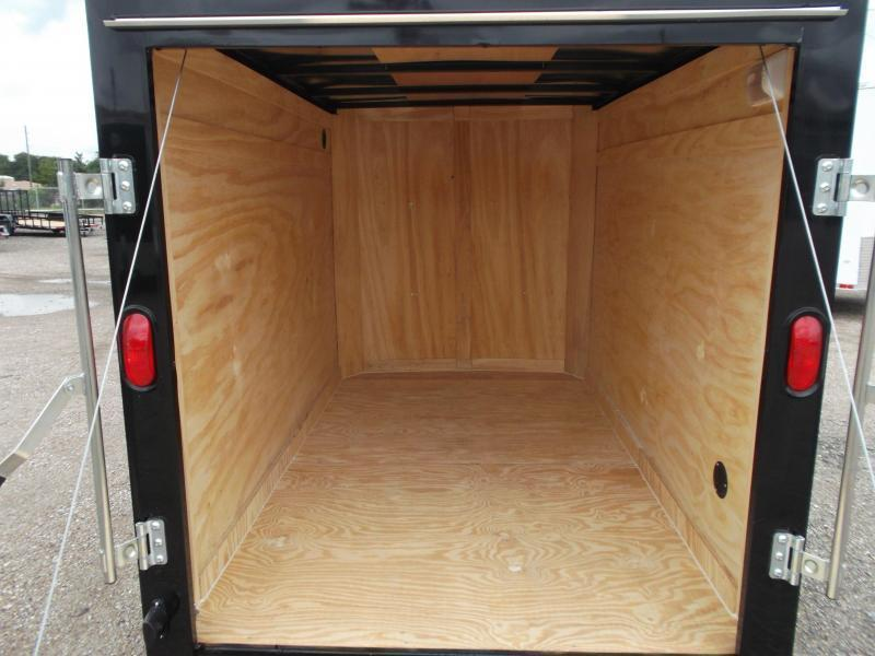 LIKE NEW - 2019 Covered Wagon Trailers 5x8 Single Axle Cargo Trailer / Enclosed Trailer w/ Ramp Gate