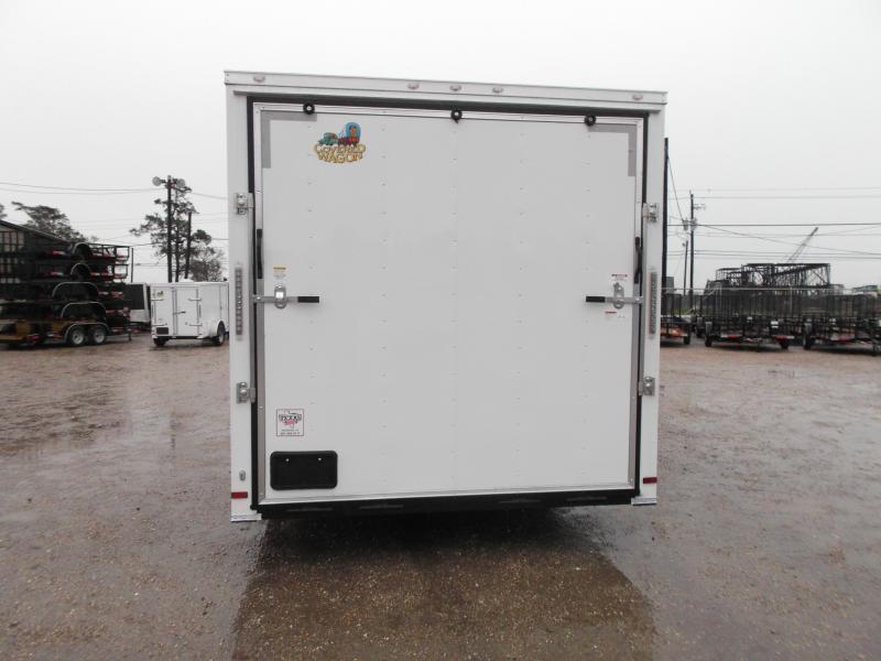 2019 Covered Wagon Cargo 8.5x24 Tandem Axle Cargo Trailer / Car Hauler w/ 7ft Interior / 5200# Axles / Heavy Duty Ramp / RV Side Door / LEDs