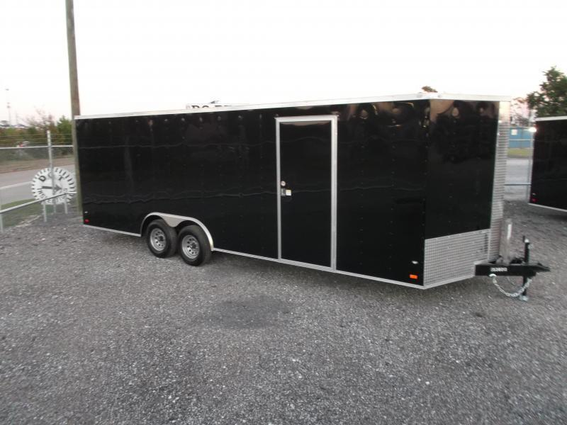 2018 Covered Wagon Cargo 8.5x24 Tandem Axle Cargo Trailer / Enclosed Car Hauler Trailer w/ 5200# Axles / Ramp