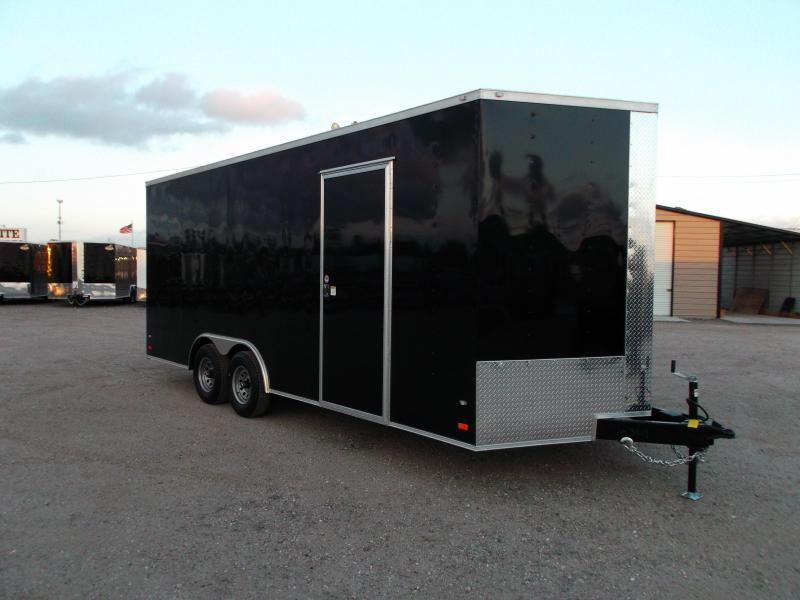 "2018 Covered Wagon Trailers 8.5x20 Tandem Axle Cargo / Enclosed Trailer w/ 7'6"" Interior / 5200# Axles / Ramp"