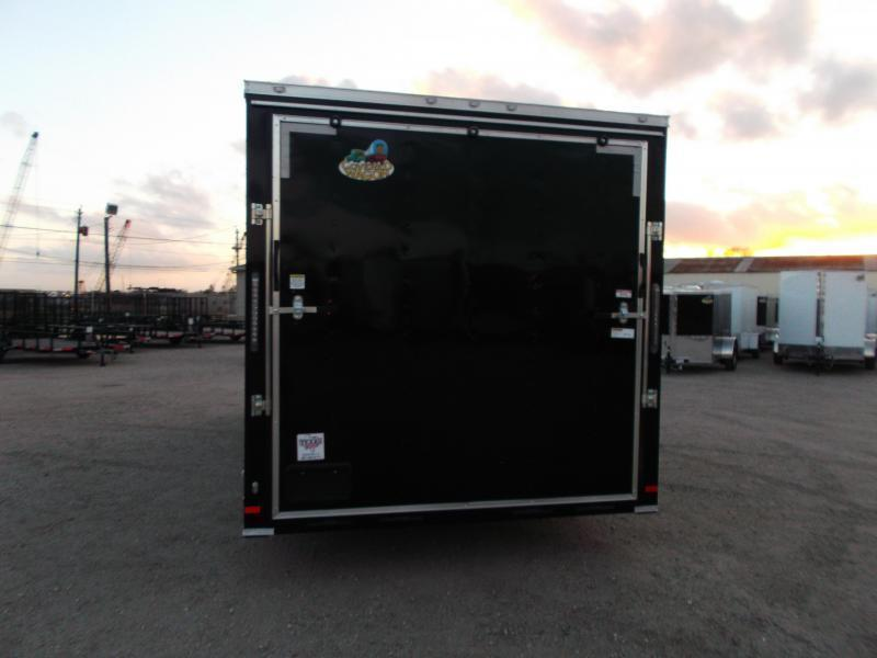 """2018 Covered Wagon Trailers 8.5x20 Tandem Axle Cargo / Enclosed Trailer w/ 7'6"""" Interior / 5200# Axles / Ramp"""