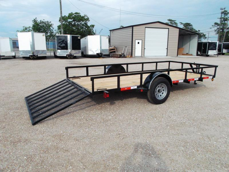 2018 Longhorn Trailers 77x14 Single Axle Utility Trailer w/ 3ft Heavy Duty Ramp Gate