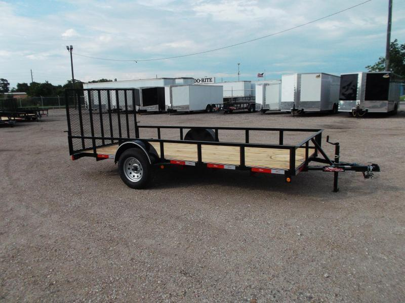 2019 Longhorn Trailers 77x14 Single Axle Utility Trailer w/ 4ft Heavy Duty Ramp Gate