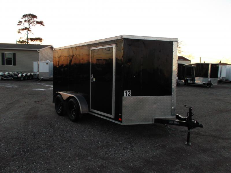 2016 Covered Wagon Trailers 7x12 Semi Low Hauler Motorcycle Trailer