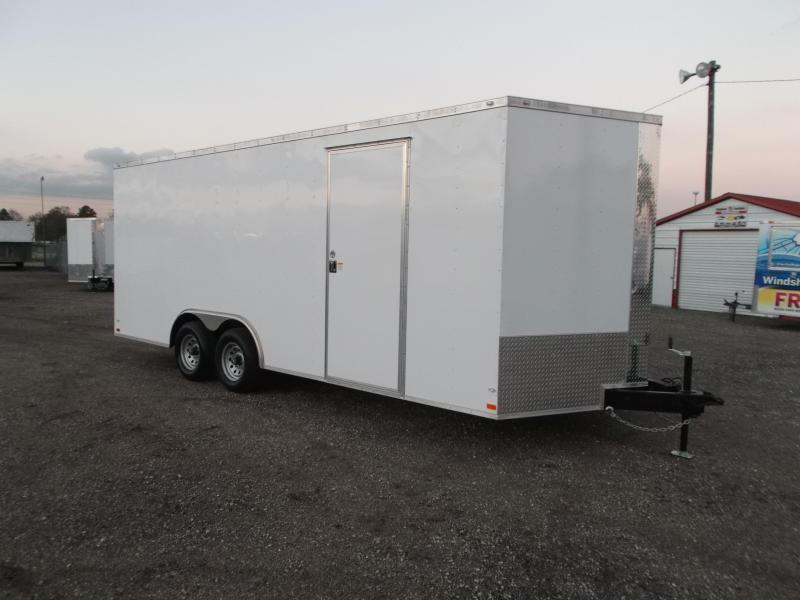 2018 Covered Wagon Trailers 8.5x20 Tandem Axle Cargo / Enclosed Trailer / 7ft Interior Height / 5200# Axles / Ramp / RV Side Door / LEDs