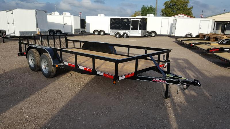 2019 Longhorn Trailers 14ft Utility Trailer w/ 2ft Dovetail / 2ft Ramp Gate