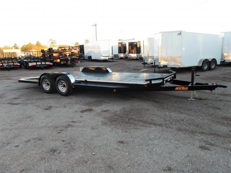 2019 Maxxd 83X20 10K N5X Steel Deck Car Hauler / Racing Trailer / 5200# Axles / Powder Coated