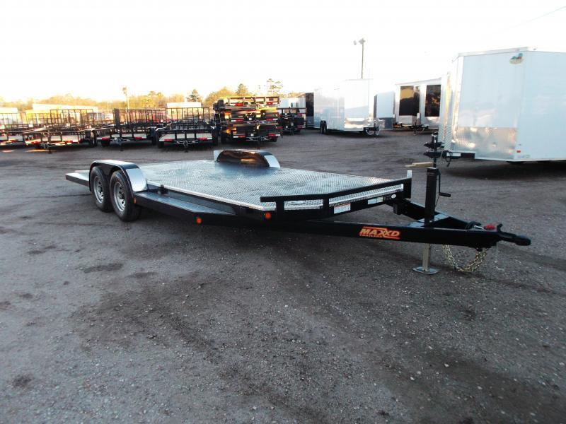2019 Maxxd 83X20 10K N5X Steel Deck Car Hauler / Racing Trailer / 5200# Axles / Powder Coated