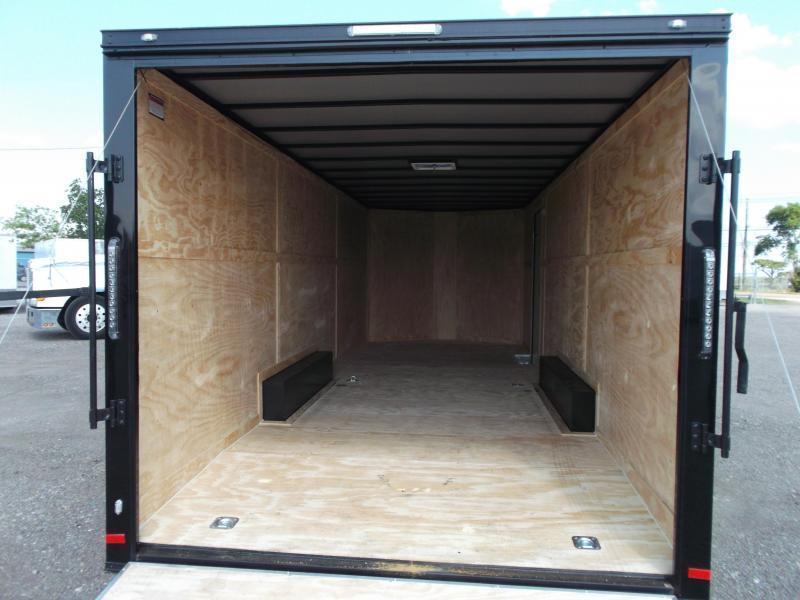 2019 Covered Wagon Cargo 8.5x24 Tandem Axle Cargo Trailer / Enclosed Trailer / Car Hauler / Black Out Package / 7ft Interior / 5200# Axles / Ramp