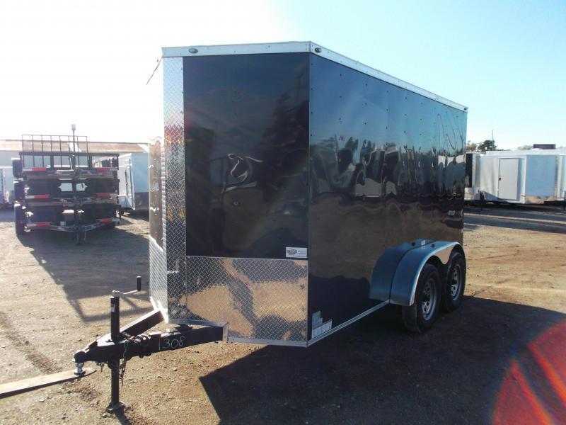 "2019 Texas Select 6x12 Tandem Axle Cargo Trailer / Enclosed Trailer / Ramp / 6'6"" Interior / Side Door / LEDs"