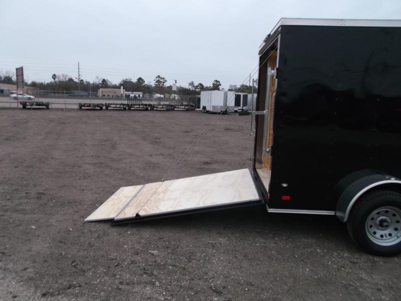 2018 Covered Wagon Trailers 6x10 Single Axle Cargo / Enclosed Trailer w/ V-Nose / Ramp Gate / RV Side Door