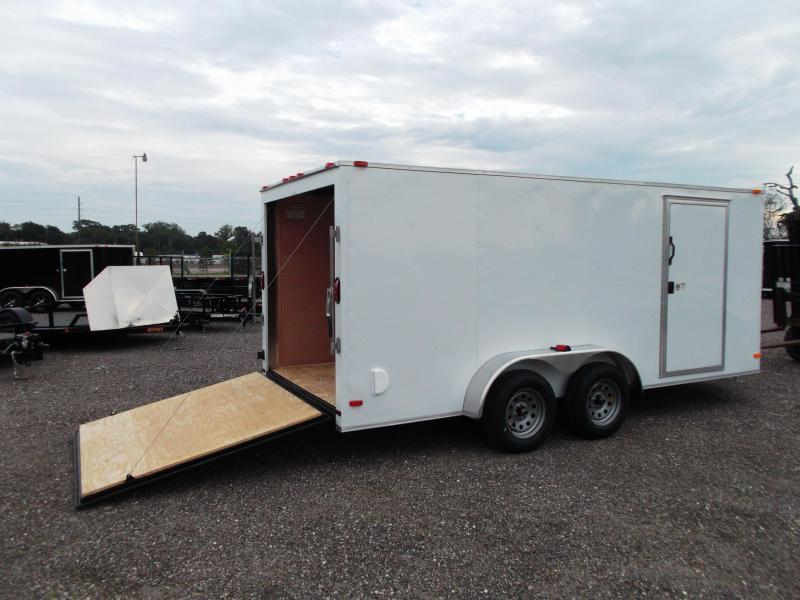 2018 Covered Wagon Trailers 7x16 Tandem Axle Cargo Trailer / Enclosed Trailer / Ramp / RV Side Door
