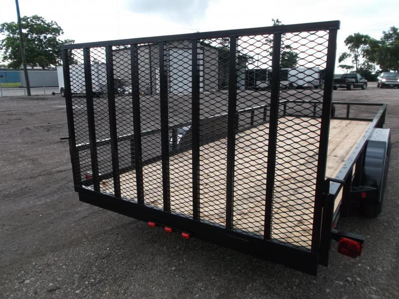 "2019 Longhorn Trailers 83x20 Utility Trailer w/ 4ft Ramp Gate / Electric Brakes / 2"" Square Tubing Toprail"