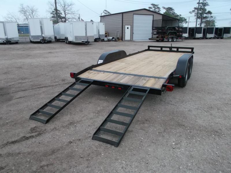 SPECIAL - 2019 Longhorn Trailers 18ft 7K Car Hauler Trailer / Race Car Trailer / 2ft Dovetail / 5ft Ramps / Brakes