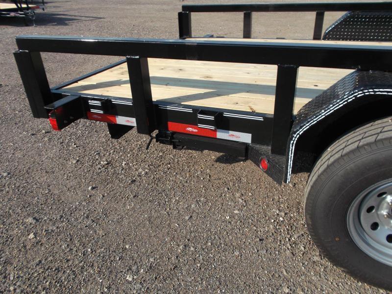 "2019 Longhorn Trailers 83x20 Gooseneck Utility Trailer w/ 7000# Axles / 3"" Square Tubing / 5ft Ramps"
