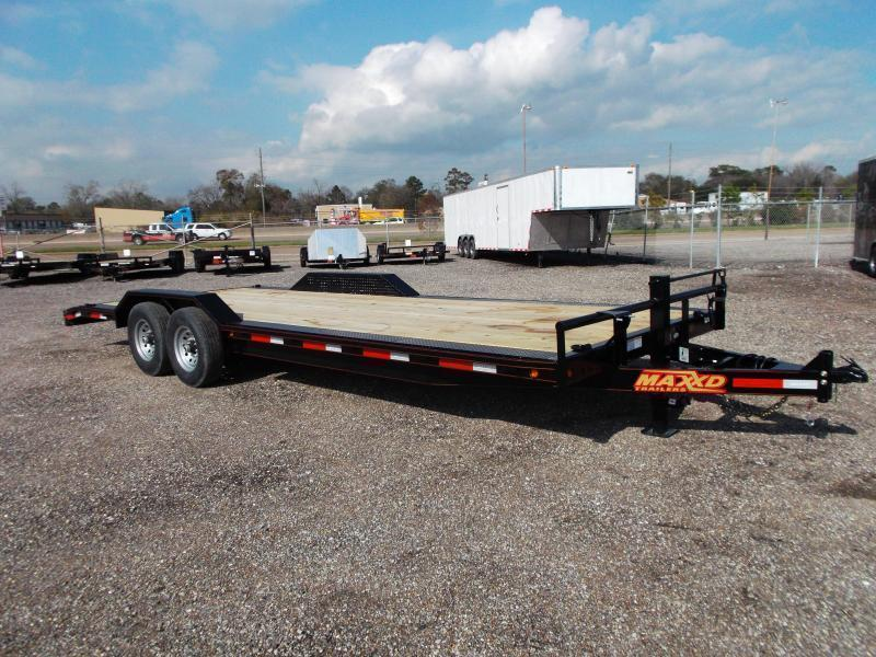 2017 Maxey 102x24 14K Car Hauler / Flatbed Trailer / Equipment Hauler