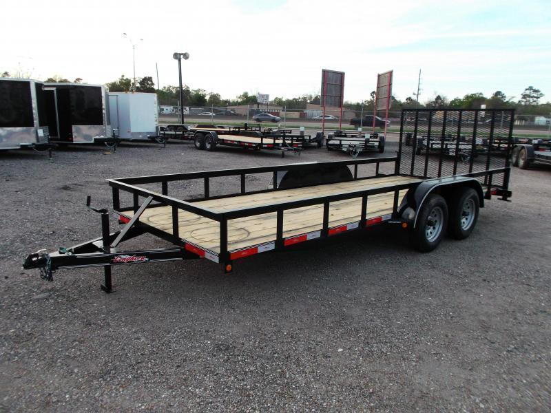 2018 Longhorn Trailers 18ft Utility Trailer w/ 4ft Heavy Duty Ramp
