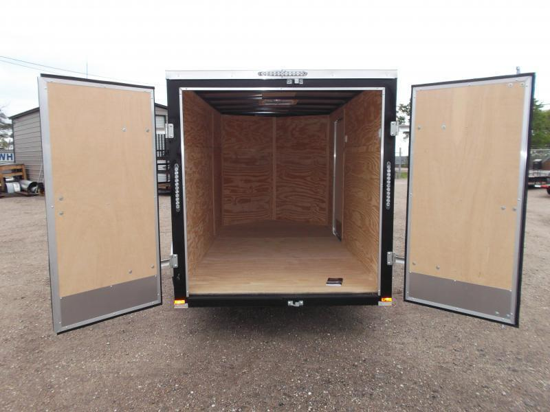 2019 Lark 6x12 Single Axle Cargo Trailer / Enclosed Trailer / Barn Doors / Side Door / LEDs