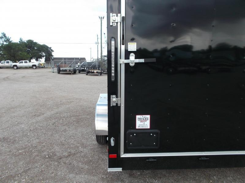 """2018 Covered Wagon Trailers 7x16 Tandem Axle Cargo Trailer / Enclosed Trailer w/ 6'6"""" Interior / Ramp / LEDs"""