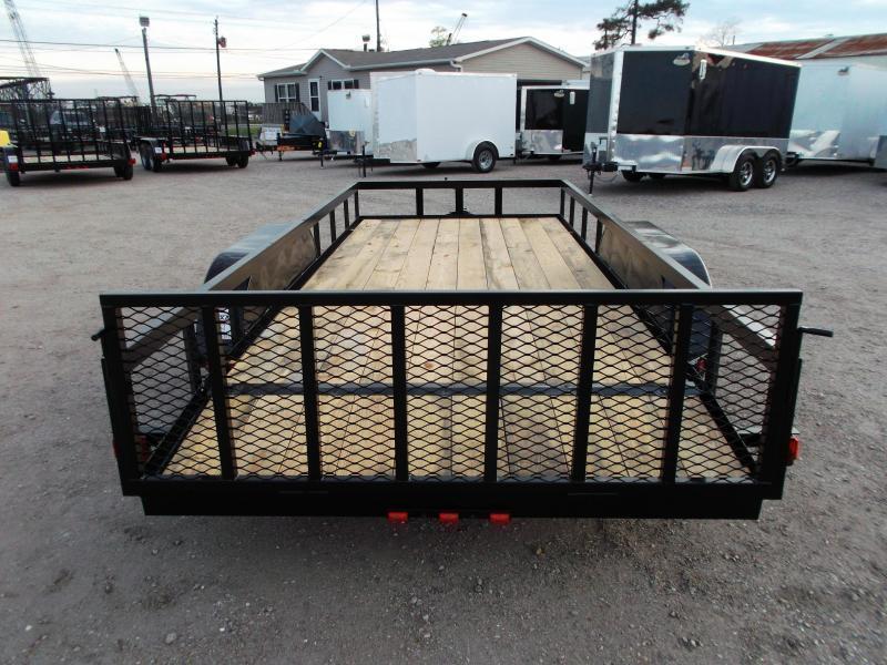 2019 Longhorn Trailers 16ft Utility Trailer / ATV Trailer / 2ft Dovetail / 2ft Ramp Gate / Brakes