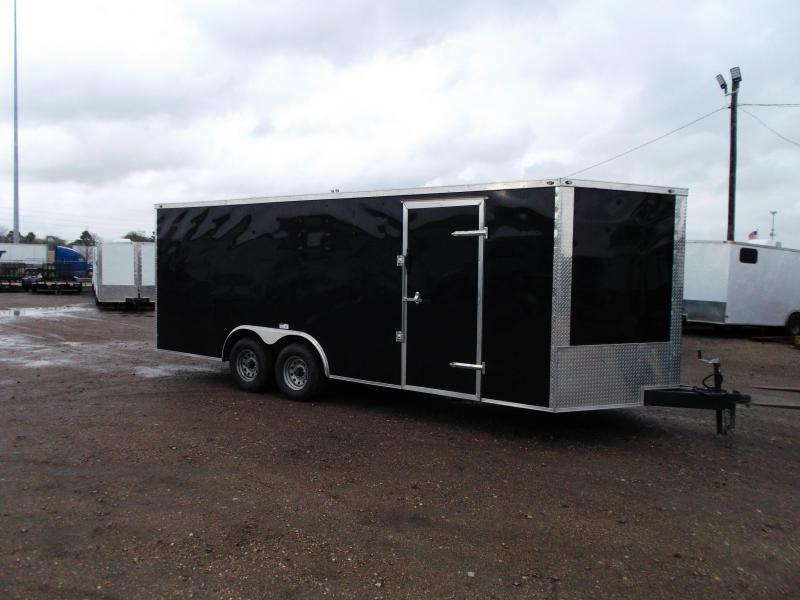 2019 Texas Select 8.5x20 Tandem Axle Cargo Trailer / Car Hauler / 5200# Axles / Heavy Duty Ramp / LEDs