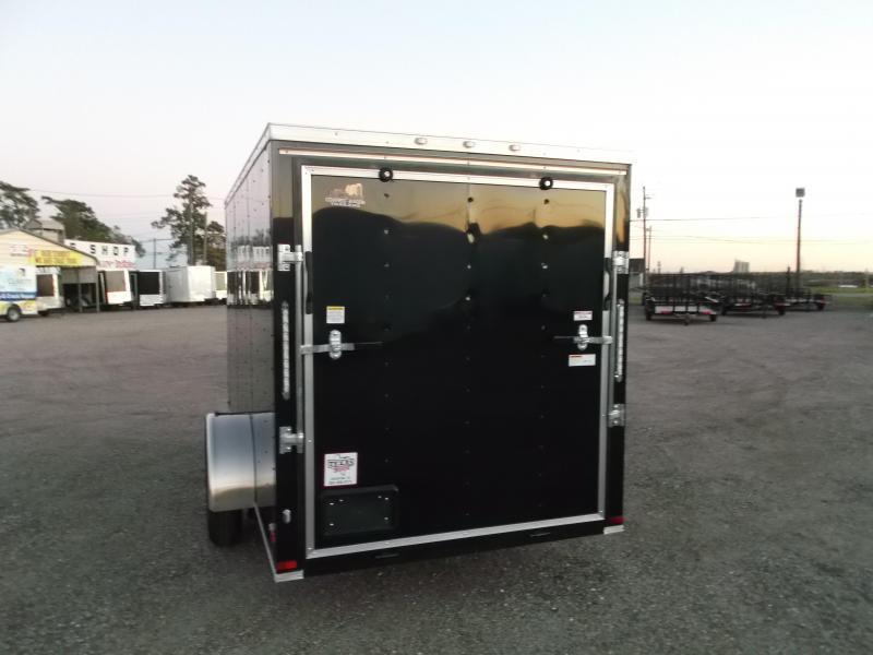 "2019 Covered Wagon Trailers 6x12 Single Axle Cargo / Enclosed Trailer / Ramp / RV Door / 6'6"" Interior / LEDs"