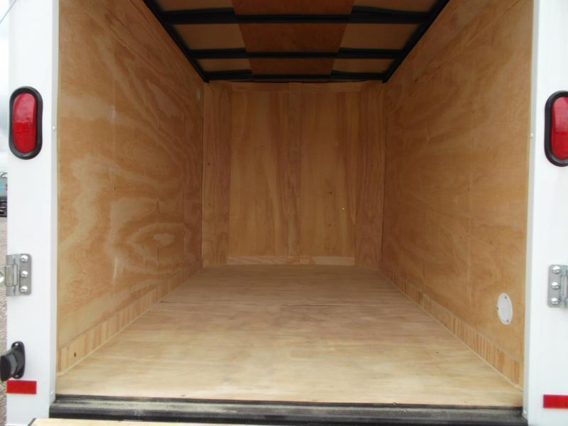 2018 Covered Wagon Trailers 5x8 Single Axle Cargo Trailer / Enclosed Trailer w/ Ramp Gate