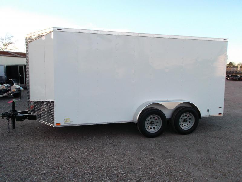 "2019 Lark 7x14 Tandem Axle Cargo Trailer / Enclosed Trailer / Barn Doors / 6'6"" Interior Height / LEDs"
