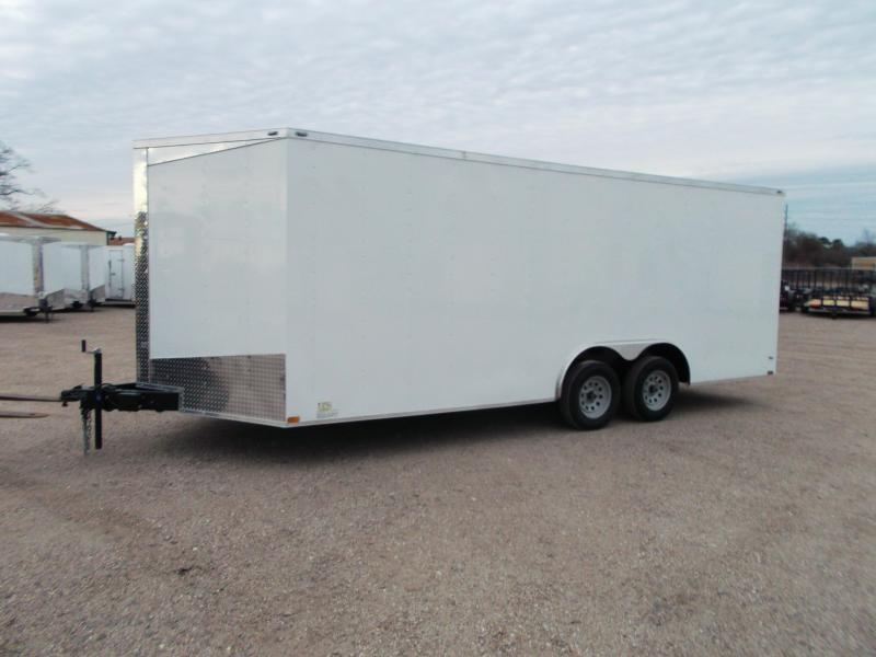 2019 Lark 8.5x20 Tandem Axle Cargo Trailer / Car Hauler / Heavy Duty Ramp / LEDs