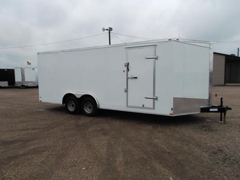 2018 Lark 8.5x20 Tandem Axle Cargo Trailer / Car Hauler / 5200# Axles / Ramp / LEDs