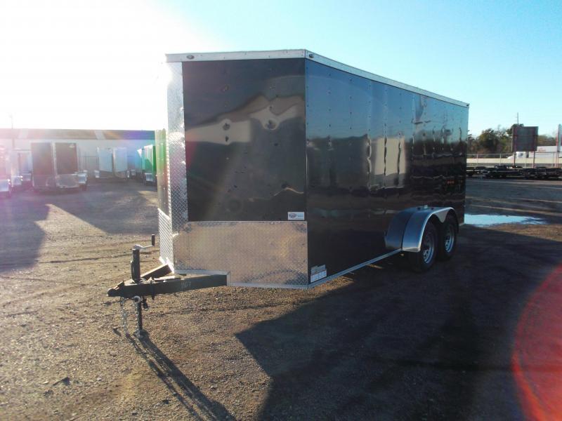 2019 Texas Select 7x16 Tandem Axle Cargo Trailer / Enclosed Trailer / Ramp / 6'6